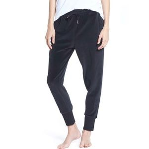 Brunette The Label Velour Jogger Sweat Pants Black